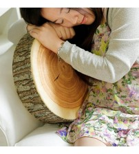 1pc New Cute Round Woods Pillow