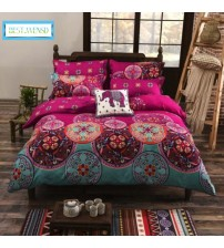 Bohemia 4pc 3d Comforter Bedding Sets