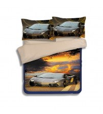 3D Sports Car Design Bedding Sets Bedspread