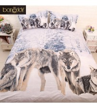3D Wolf Bedding Set Wolf Bedding Bed Linen Set