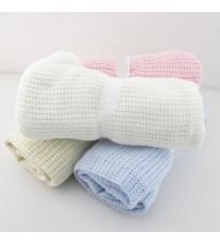 Baby Blankets Super Soft Cotton Crochet