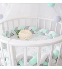 Minimalism Baby Bed Bumper Knot