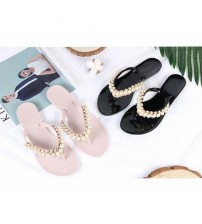 Women Pearl Fashion Slippers Flats Shoes