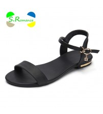 Soft Rubber Sole Basic Buckle Strap Shoes