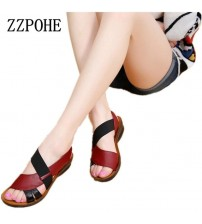 Soft Bottom Middle-aged Sandals Shoes
