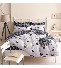 Batman Bedding Set Black Color Cartoon Duvet