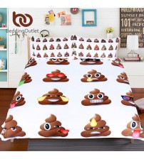 Bedding Outlet Poop Emoji Bedding Set