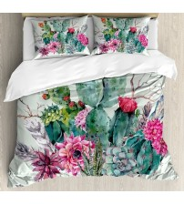 Cactus Decor Duvet Cover Set