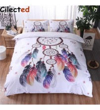 Cilected Bohemian Feather Duvet Cover Set