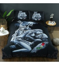 Drop Shipping 2/3pcs 3D Ride Die Bedding Cover Set