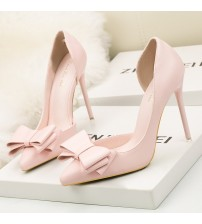 Side Hollow Pointed Women Pumps