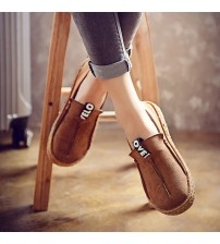 Bomlight Women Loafers Shoes Round Toe Oxford