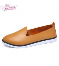 Split Leather Oxford Flat Shoes