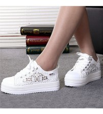 GAOKE Women Lace Canvas Shoes