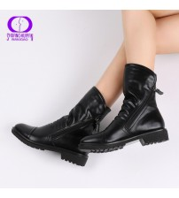 Fashion Vintage Ankle Boots Soft Leather Shoes