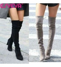 Western Style Spring Over The Knee Boots