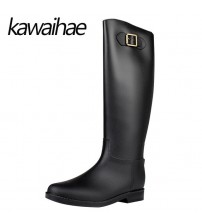 PVC Knee High Women Boots Rubber Shoes
