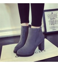 Boots Suede High-Heeled Shoes