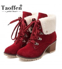 Ladies Thick Fur Ankle Boots