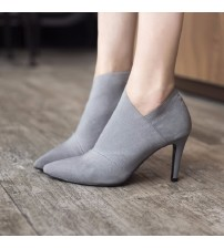 Pointed Toe High Heels Women Boots