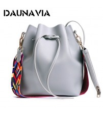 DAUNAVIA Women Colorful Strap Bucket Bag