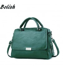 Bolish Casual Women Soft Pu Leather Handbag