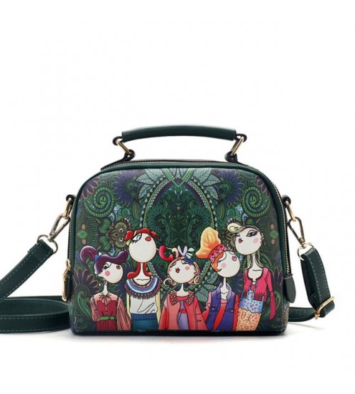 YQYDER PU Leather Ladies Cartoon Handbag