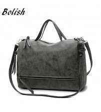 Bolish Female Shoulder Bag Nubuck Leather
