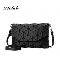 Plaid Geometric Lingge Envelope Handbag