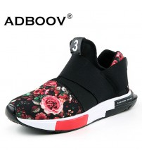 Sneakers Women Casual Shoes Flower Print
