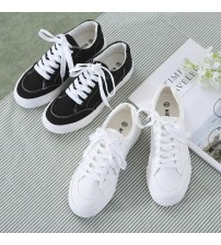 Canvas Female Shoes Sneakers Lace Up