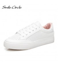 Sneakers Comfortably Lace-up Flats Shoes