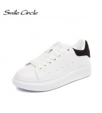 Spring Autumn Genuine Leather Sneakers