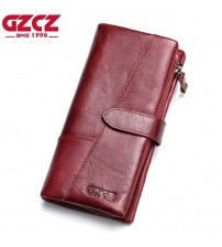 GZCZ Genuine Leather Women Wallet