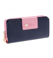 Long Leather Women Clutch Bag