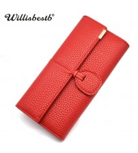 Leather Clutch Long Hasp Woman Wallet
