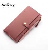 Long Solid Luxury Brand Women Wallets