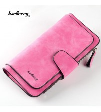 Long Design Purse Nubuck Leather Clutch