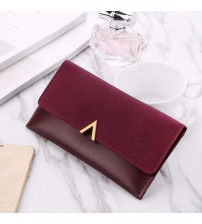 Long Design Hasp Zipper Purses Wallet