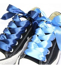 80CM Fashion Flat Silk Ribbon Shoelaces