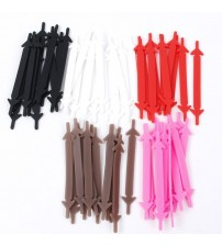 12pcs /Pair Lazy Athletic Running No Tie Shoelaces