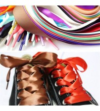 120CM Flat Silk Ribbon Shoelaces