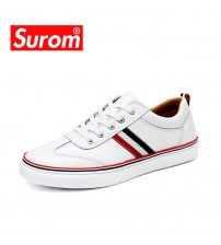 High Quality Leather Casual White Shoes