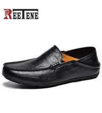 Genuine Leather Loafers Men Shoes
