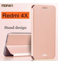 Redmi4x Case Flip Cover Back Leather Silicone