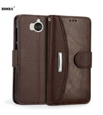 Huawei Y6 2017 Case Cover PU Leather Wallet
