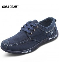 Denim Lace-Up Men Casual Shoes