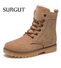 Men Suede PU Leather Snow Boots
