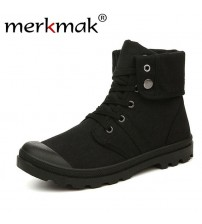 Men Canvas Boots Army Combat Style