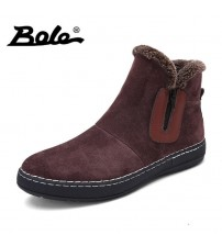 Fashion Handmade Cow Suede Men Boots